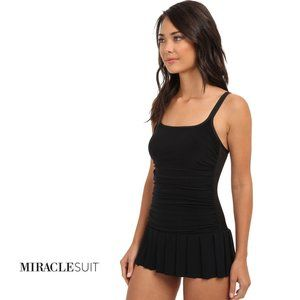 MIRACLESUIT Skater Skirt Too Haute Black Swimsuit